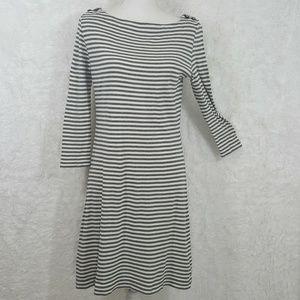 Tory Burch Gray & White Striped Dress Size S #147